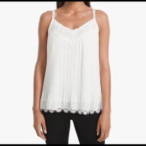 Pleated Cami (white)